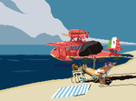 Porco Rosso for Pixel Dailies by Rgznsk