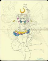 Sailor Moon Sketch by Dee-Linquent