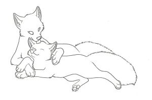 """""""Here with you"""" lineart by Spectrolite"""
