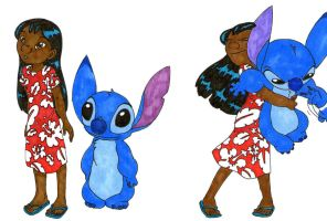 Older Lilo and Stitch by DoodlebugQT