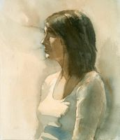 1-session watercolor portrait by Zirngibl