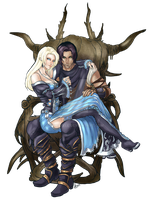 Amanae and Arimar by Evanyell