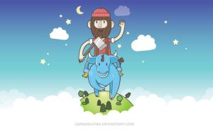 Paul Bunyan Wallpaper by carnivalfish