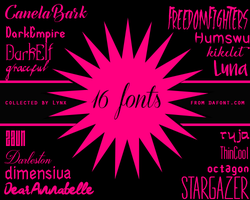 16 fonts by Ginny1xD