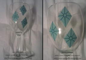 Hand Painted Rarity Wine Glass by AppieJackie