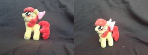 MLP FiM: Handmade 7 inch minky plush: Apple Bloom! by vulpinedesigns