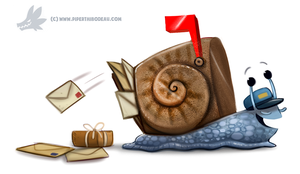 Daily Paint #1249. Snail Mail by Cryptid-Creations