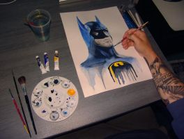 The Batman Final Touches by GeeeO