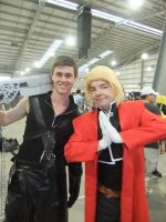 Supanova 2013 - Edward Elric and Cloud by fulldancer-alchemist