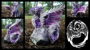 Willowing Mist - Amethyst Dragon Statue - SOLD by SonsationalCreations