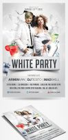 White Party Flyer Template by saltshaker911