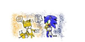 Fill In the blank Sonic +Tails by VenturerSonikkuLuver