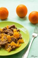 Beef with oranges by Morgaer
