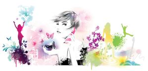 fashion illustration colloge by BreeLeman