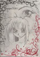 Anime character sketch+border by JJShaver