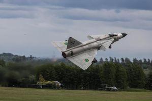 AJ-37 Viggen takes flight by JRL5