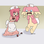 Clumsy Nursing by Usa-Ritsu