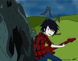 Marshall lee playing the guitar by Kurin-Sushi
