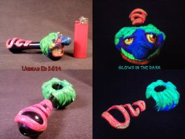 420 Wrecked Pipe By Undead Ed glows in the dark 3 by Undead-Art
