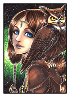 Owl Lady by omegasama