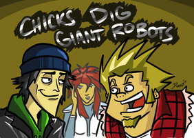 Chicks Dig Giant Robots by Mr-SF