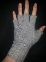Polar Silk Fingerless Glove by musical-box
