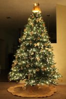 Golden Christmas Tree by RavingPink