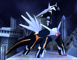 Primal dialga by DigiTheHedgehog