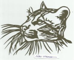 leopardo paper cut by ivanutrera