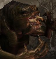 Jessica meets the Rancor3 by Alucards-Spirit