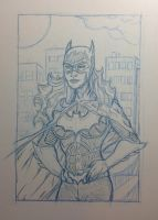 Batgirl Pencil Practice 3 by ThomasScantenii