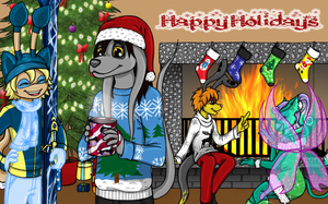 Happy Holidays from Neotown! by fanofnaruto