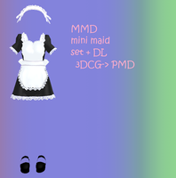 MMD: mini maid set + DL by Chibi-Baka-San