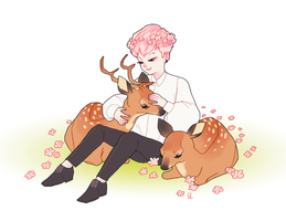 deer whisperer by genicecream