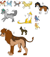 Name Your Price- Misc. Adoptables by BleuAdopts