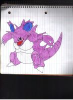 Nidoking by DeadSkullFace