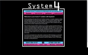 System4 Website 2010 by Fourthletter