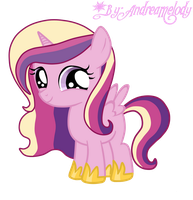 The Princess Cadence Filly by AndreaSemiramis