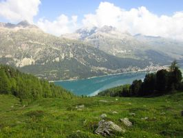 Engadina Valley, Silvaplana, Switzerland by tompot