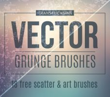 Free Vector Grunge Brushes by Transfuchsian