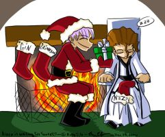 Aizen is waiting for Santa by SakuraKaijuu
