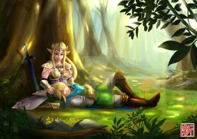 Zelda & Link by Xin-Art-Studio