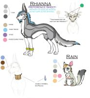 Rhiann - Reference Sheet v.1 by Quaylak