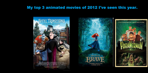 My favorite Animated movies of 2012. by Smurfette123
