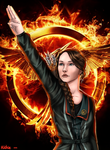 Katniss by ByVerychArt