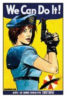 Jill Valentine 'We Can Do It' by aaronminier