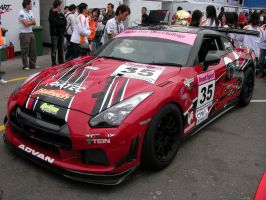 Nissan GT-R Race car by macaustar