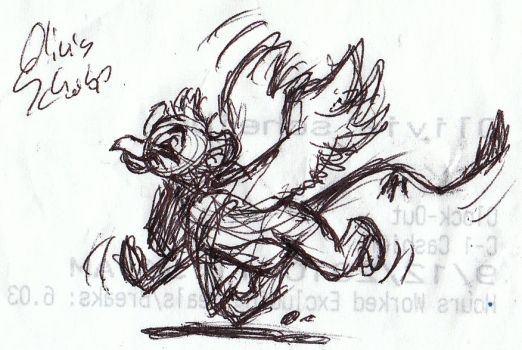 Happy Griffin by Animator-who-Draws