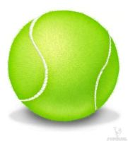 Tennis-ball in Adobe Photoshop by yomash