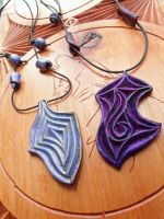 TWO POLYMER CLAY PENDANTS by MassoGeppetto